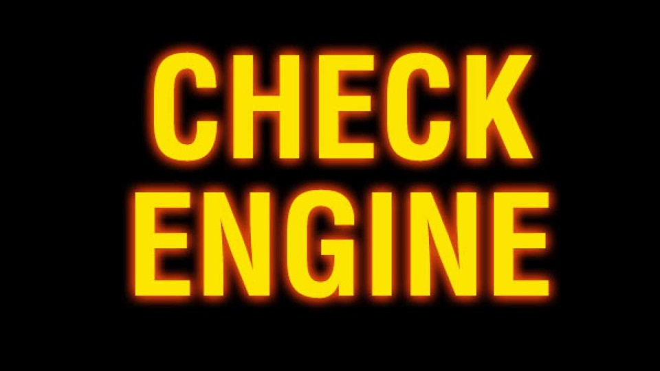 Если горит check engine